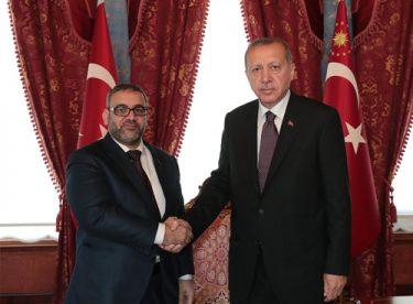 Cumhurbaşkanı Erdoğan, El-Meşri'yi Kabul Etti