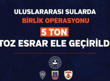 Uluslararası Sularda Uyuşturucu Operasyonu: 5 Ton Toz Esrar Yakalandı