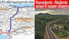 Karadeniz-Akdeniz otoyolu projesinin yapımı sürüyor