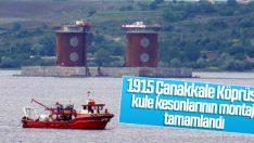 1915 Çanakkale Köprüsü kule kesonları batırıldı