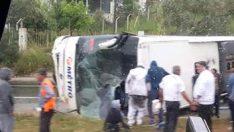 Son dakika… Milas'ta yolcu otobüsü devrildi, ölü ve yaralılar var
