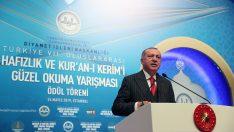 Başkan Erdoğan Hafızlık ve Kur'an-ı Kerim'i Güzel Okuma Yarışması Ödül Töreni'ne katıldı