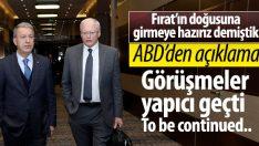 ABD: Jeffrey'in Türkiye'deki temasları yapıcı geçti