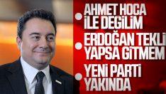Ali Babacan yeni bir partinin sinyallerini verdi