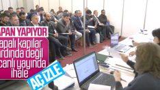 Ankara Büyükşehir Belediyesi canlı yayında ihale yapıyor