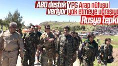 Arap kabileler terör örgütü YPG'yi protesto etti