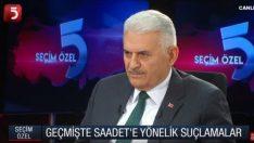 Binali Yıldırım Saadet Partisi'in oylarına talip