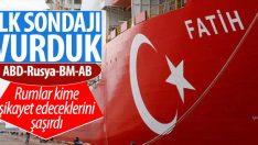 Fatih Sondaj Gemisi Akdeniz'de sondaja başladı