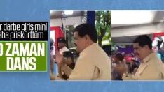 Darbecilere karşı zafer kazanan Maduro'dan dans