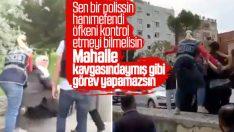 Diyarbakır'da kadın polisin eyleme müdahalesi