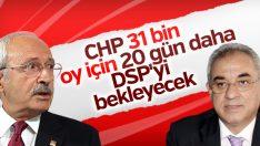 DSP'den CHP'ye: 20 gün bekleyin