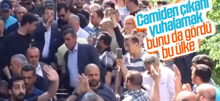 Ekrem İmamoğlu cami çıkışı protesto edildi