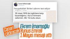 Ekrem İmamoğlu'ndan Yunus Emreli 1 Mayıs mesajı
