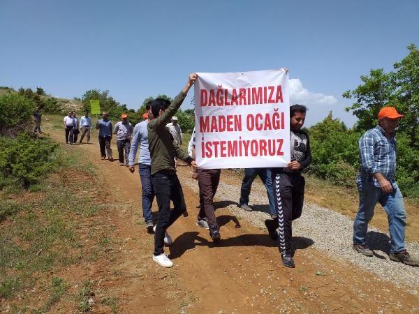 Elazığ'da köylülerden, maden ocağı eylemi