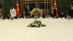 Erdoğan,şehit aileleriyle iftarda bir araya geldi