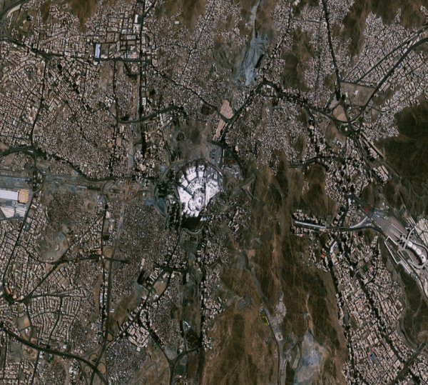 Göktürk 2'den Mekke'nin görüntüsü