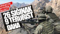 Hakkari'de operasyon: 9 terörist öldürüldü