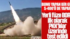 Hakurk'ta bulunan terör mevzileri BORA'yla vuruldu