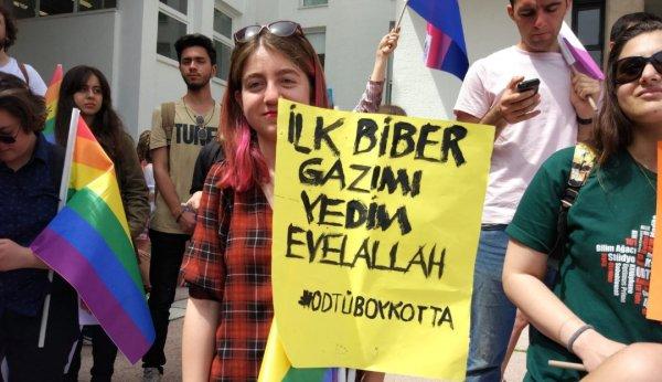 ODTÜ boykotta