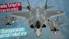 Pentagon: Türkiye'yi F-35 programından çıkaramayız