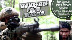 PKK'lı terörist açlığa dayanamadı