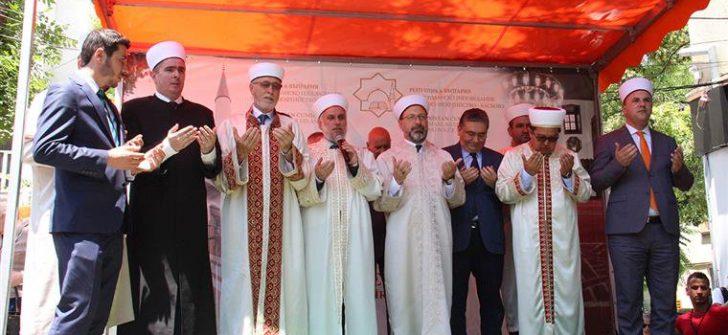 Türkiye tarafından tamamlanan tarihi Camii ibadete açıldı