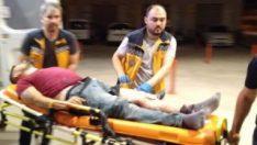Evinin önünde silahlı saldırıda ağır yaralandı
