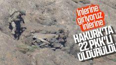 Hakurk Bölgesi'nde 3 PKK'lı daha öldürüldü