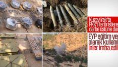 Hakurk'ta EYP eğitim yeri mağaraları yok edildi