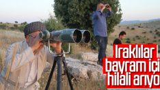 Irak'ta bayram için hilal gözleniyor