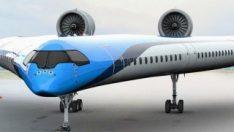 KLM, V şeklindeki yeni yolcu uçağı tasarımını paylaştı
