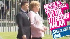 Merkel, resmi törende fenalaştı