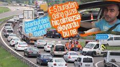 Tatilciler İstanbul trafiğini özledi