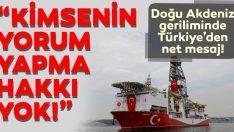 Çavuşoğlu'ndan flaş Doğu Akdeniz açıklaması!