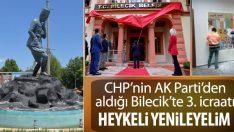 Bilecik'te Atatürk heykeli restore edilecek