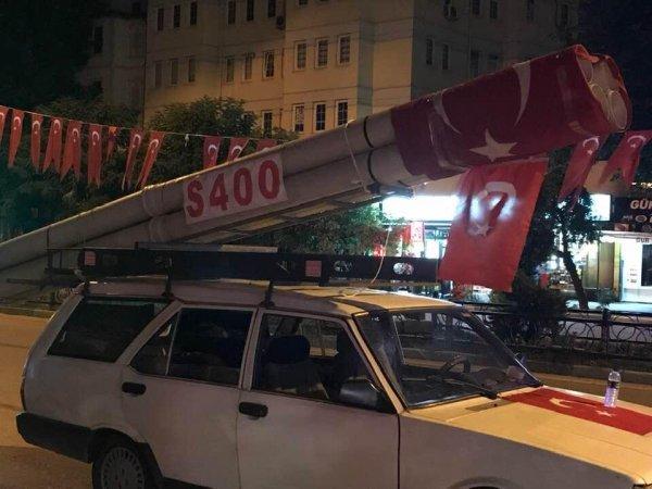 Bursa'da S-400 mesajı veren vatandaş