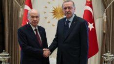 Cumhurbaşkanı, Devlet Bahçeli ile görüştü