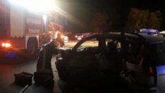 Denizli'de 2otomobil çarpıştı