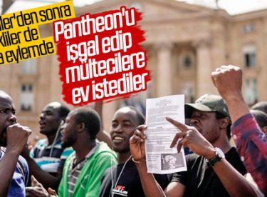 Fransa'da göçmenlere ev istiyoruz eylemi