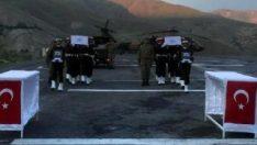 Hakkari'de şehit olan askerler memleketlerine uğurlandı