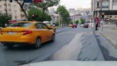 İstanbul'da yayalara yol vermeyen araçlar kamerada