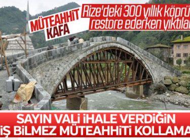 Rize Valiliği yıkılan köprüyle ilgili açıklama yaptı