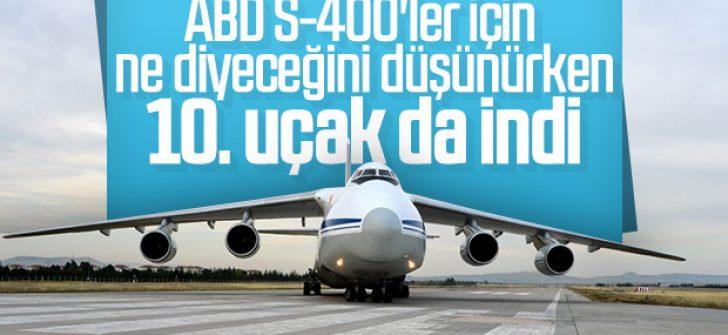S-400 sevkiyatında 10'uncu uçak da Mürted'e indi