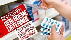 92 ilaç geri ödeme listesine alındı