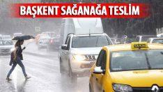 Şiddetli yağış başkentte etkili oldu