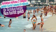 Antalya'da ilk 7 ay turist bilançosu: 8 milyon
