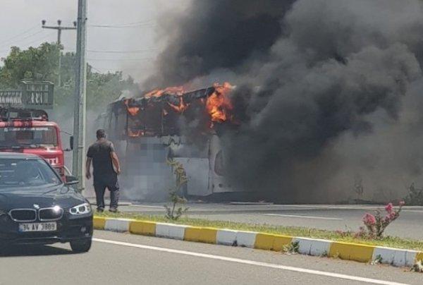 Balıkesir'de yolcu otobüsü alev aldı: 5 ölü