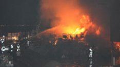 Denizli'deki fabrika yangını kontrol altındı