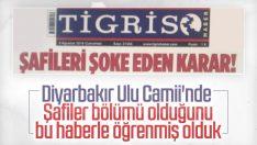 Diyarbakır'da Şafilerin namaz kılma bölümü kapatıldı
