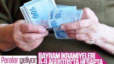 Emeklilere bayram ikramiyeleri 8 Ağustos'ta ödenecek
